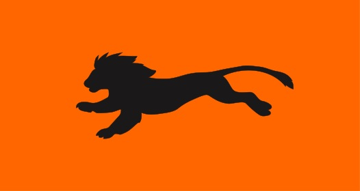 Orange Lion Running