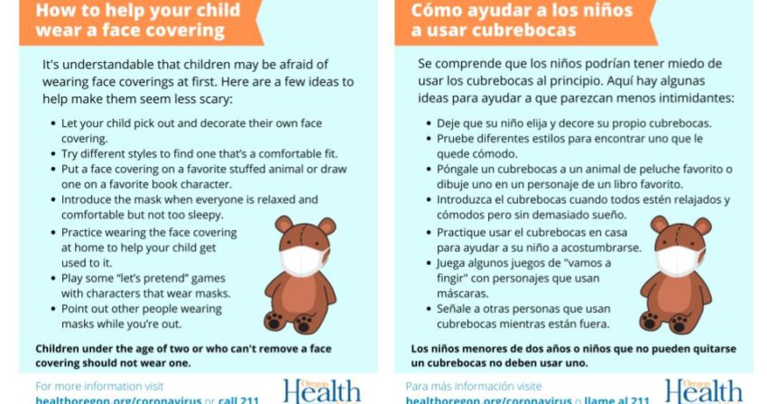 tips for parents to talk their children about wearing masks