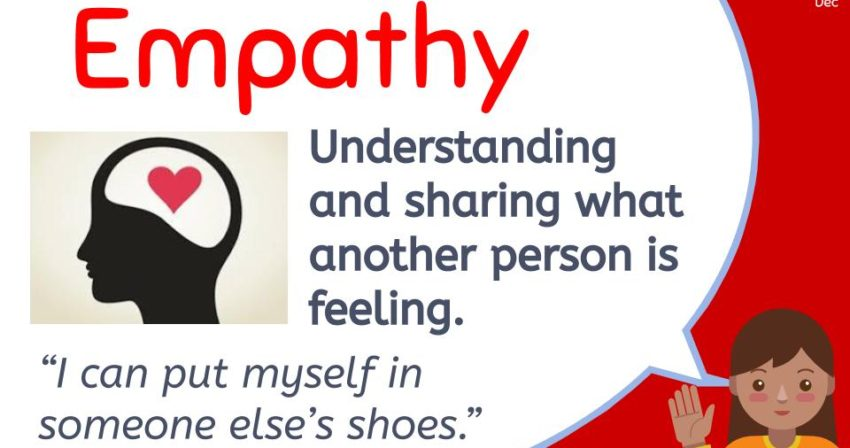 Understanding and sharing what another person is feeling