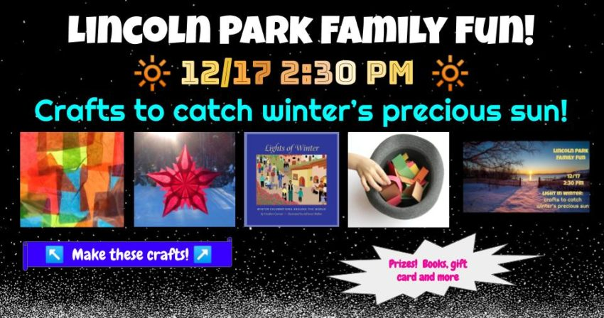Invitation to paper-crafting family event on 12/17